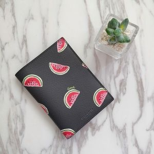 COACH PASSPORT CASE WITH WATERMELON PRINT